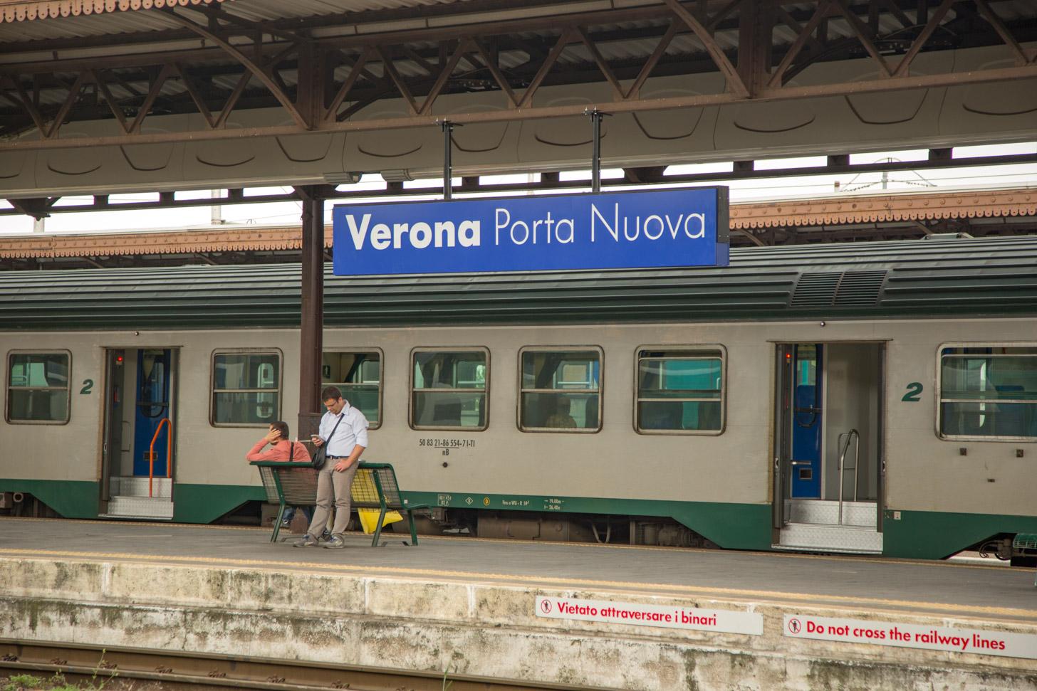 Met de trein naar Verona reizen